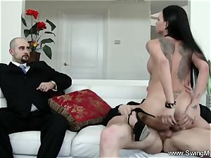 Exotic Swinger wife boinks Another guy