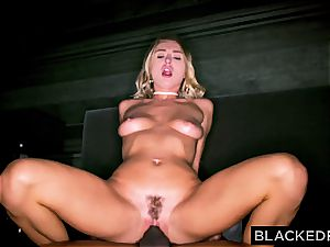 Natalia Starr gets drilled by a ample black brotha