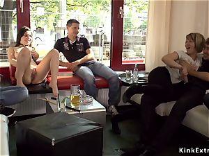 petite gimp disgraced in Berlin streets