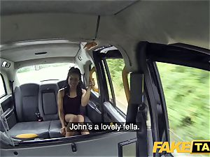 fake taxi hasty pulverizing and creampie for peachy rump