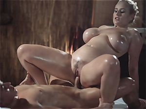 massage apartments sumptuous mummy with immense all-natural tits