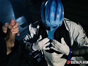 Space porno parody with super hot alien Rachel Starr