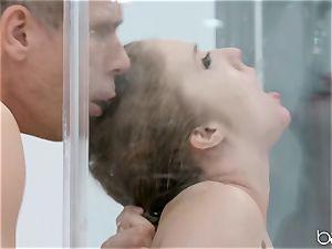 Lena Paul shower tear up with hunky German Mick Blue