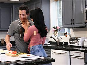 Gina Valentina enjoys dirty kitchen intercourse