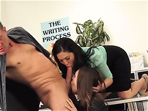 masters London Keyes and Jade Nile boink a students parent