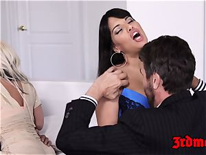 chesty cougar 4some penetrating until climax