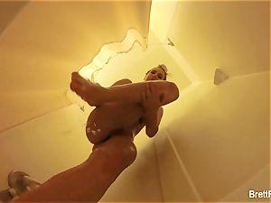 wonderful towheaded Brett Rossi takes a nice bathroom