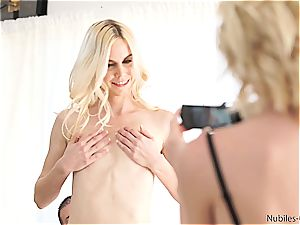NubilesCasting first-ever boink video for lil' titty ash-blonde
