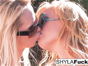 Nikki Benz and Shyla Stylez together for a gal on girl
