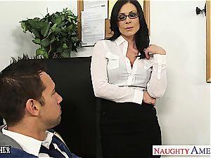 insatiable Kendra ravaged on her desk