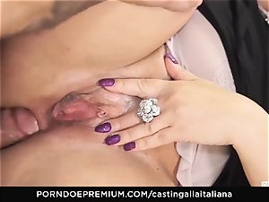 audition ALLA ITALIANA Mature ginger-haired donk drilled deep