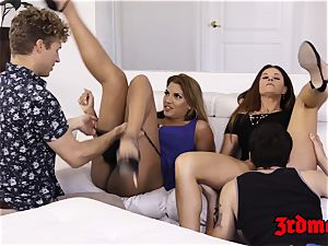 mummy Mercedes Carrera riding hard-on passionately in fuck-a-thon