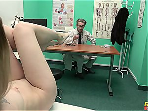 Misha Cross gets pummeled by her doc