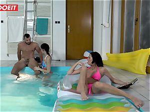 LETSDOEIT - sonnie pokes StepMom And step-sister At The Pool