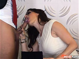 Mckenzie Lee gets a treat for her honeypot at her office