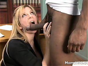 Mature manager Sara Jay interracial fucky-fucky Applicant