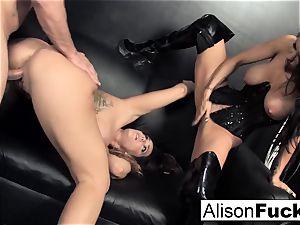 3-way hardcore energetic hook-up with Alison