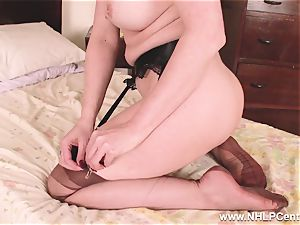 super-fucking-hot milf fake penises fucktoy to climax in stockings suspenders