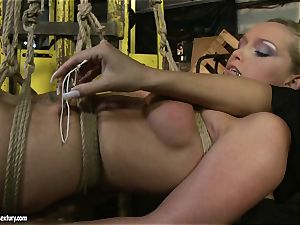 Kathia Nobili and Mandy Bright assets cording with strap
