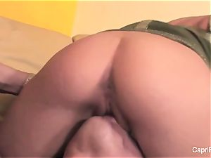 sexy Capri gets boned on the couch