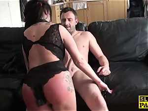 Bigtitted brit marionette abased by male domination