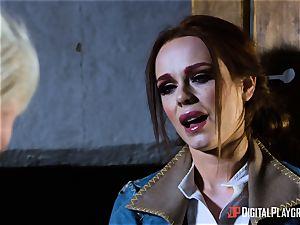 Monster cock for super-sexy brunettes twat crevasse Ella Hughes