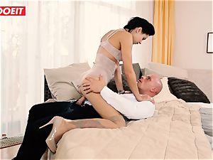 LETSDOEIT - horny couple Has Retro wish rough bang-out
